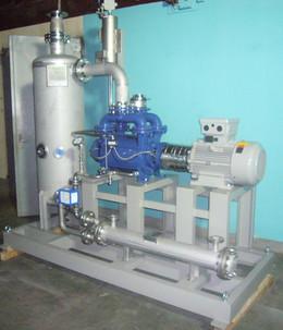 Liquid ring vacuum pump unit
