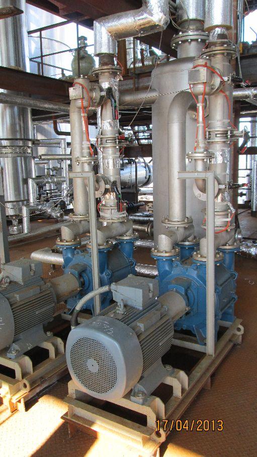 einstufigeFlüssigkeitsringvakuumpumpe+Gasstrahler zur Turbinenkondensatorevakuierung Bild 1